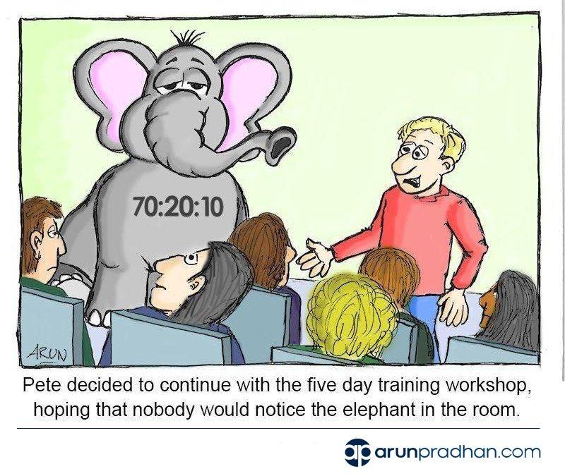 Cartoon: The 70:20:10 Elephant